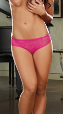 Open Crotch Low Rise Panty - Hot Pink