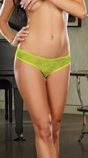 Open Crotch Low Rise Panty - as shown