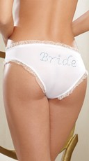Here Comes The Bride Hipster Panty - White