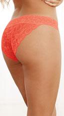 Criss-Cross Lace Bikini Panty - Coral