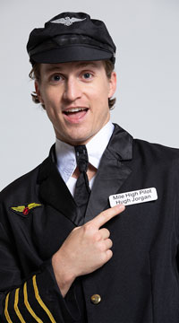 Mens Pilot Captain Costume - Black