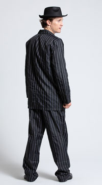 Men's Gangsta Costume - Black