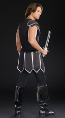 Men's One Hot Knight Costume - Black