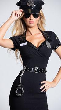 Dirty Cop Officer Anita Bribe Costume - Multi
