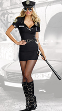 Dirty Cop Officer Anita Bribe Costume - Multi