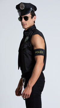 Dirty Cop Officer Ed Banger Costume - Multi