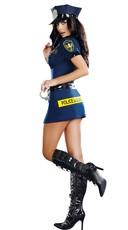 Officer Sheila B. Naughty Costume - Multi