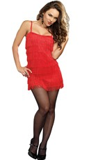 Roaring Babe Flapper Dress - Red