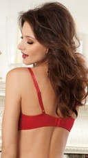 Elegant Persuasion Open Cup Shelf Bra - Red