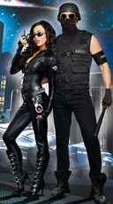 Special Responce SWAT Couples Costume - as shown