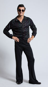 Men's Disco Stud Costume - Metallic