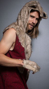 Men's Sexy Bad Wolf Costume - as shown