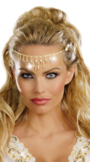 Shimmering Rhinestone Crown - Gold