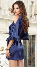 Midnight Blue Beauty Robe - Midnight