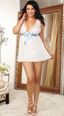 Plus Size Bridal Beauty Babydoll Set - as shown