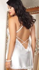 Plus Size Satin 'Bride' Chemise - as shown