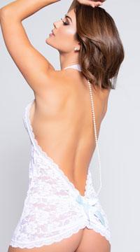 Pearl Chemise Set - White