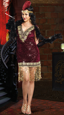 Plus Size Sophisticated Lady Costume - Burgundy