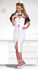 Sexy Night Nurse Costume - White