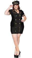 Plus Size Sexy Skies Pilot Costume - Black