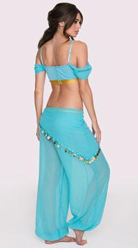 Sexy Genie Costume - Aqua