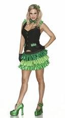 St Pattys Girl Costume - Black/Green
