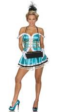 Sexy Cigarette Girl Halloween Costume - Blue/White