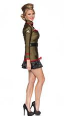 Corporal Cutie Costume - Olive Green/Black