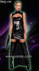 Yandy Exclusive Sci-Fi Commander Costume - Black