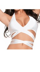 Strappy Halter Top - White