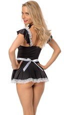 What A Tease! Naughty Lingerie Maid Costume - Black/White