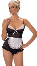 A French Affair Lingerie Maid Costume - Black/White