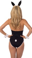 Bustier Bunny Babe Costume - Black/White