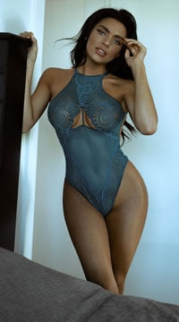 Lustful Crochet Teddy - Dark Teal
