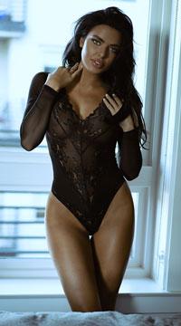 Luxe Long Sleeve Teddy - Black