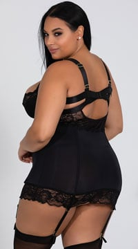 Plus Size Black As Night Chemise Set - Black