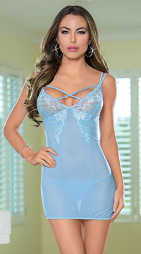 Blissful Babydoll Set - Powder Blue