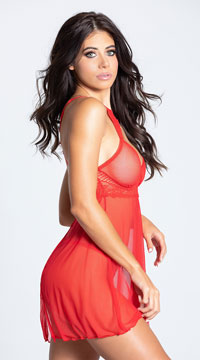 Adore Babydoll Set - Red