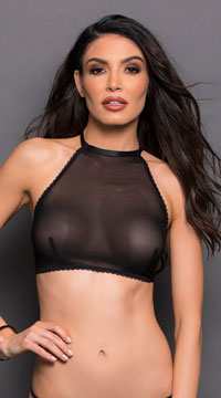 Game Changer High Neck Bralette - Black
