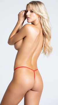Sheer Lacy G-String - Red