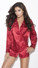 Satin Sleep Shirt - Red