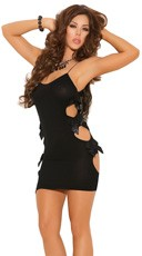 Opaque Mini Dress - Black