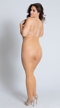 Plus Size Born This Way Bodystocking - Nude