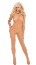 Open Crotch Bodystocking - Nude