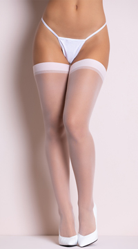 Sheer Thigh High Stockings - Baby Pink