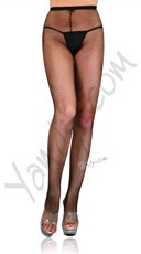 Plus Size Fishnet Pantyhose - Black