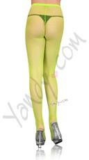 Fishnet Pantyhose - Neon Green