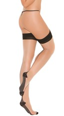 Cuban Heel Thigh Highs - as shown