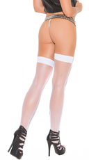Fishnet Thigh Highs - White