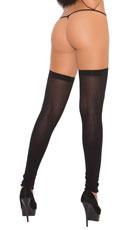 Thigh High Leg Warmers - Black